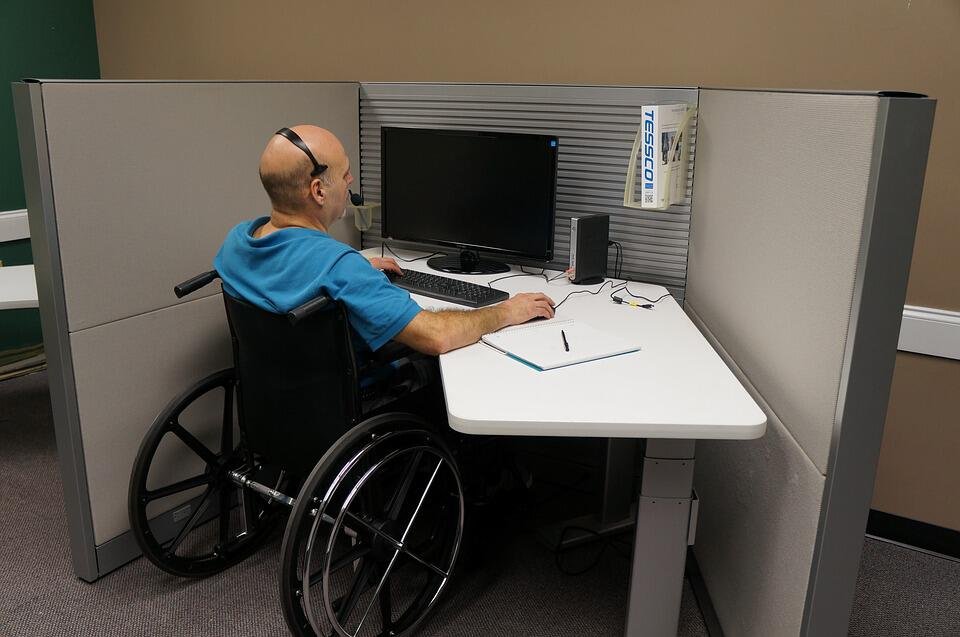 Partially disabled worker